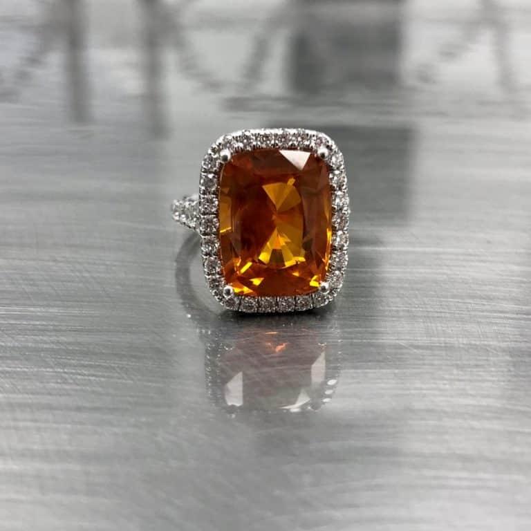 Estate jewelry diamond and gemstone ring