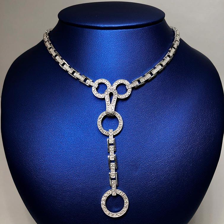 14KW 1.5ctw Diamond Necklace