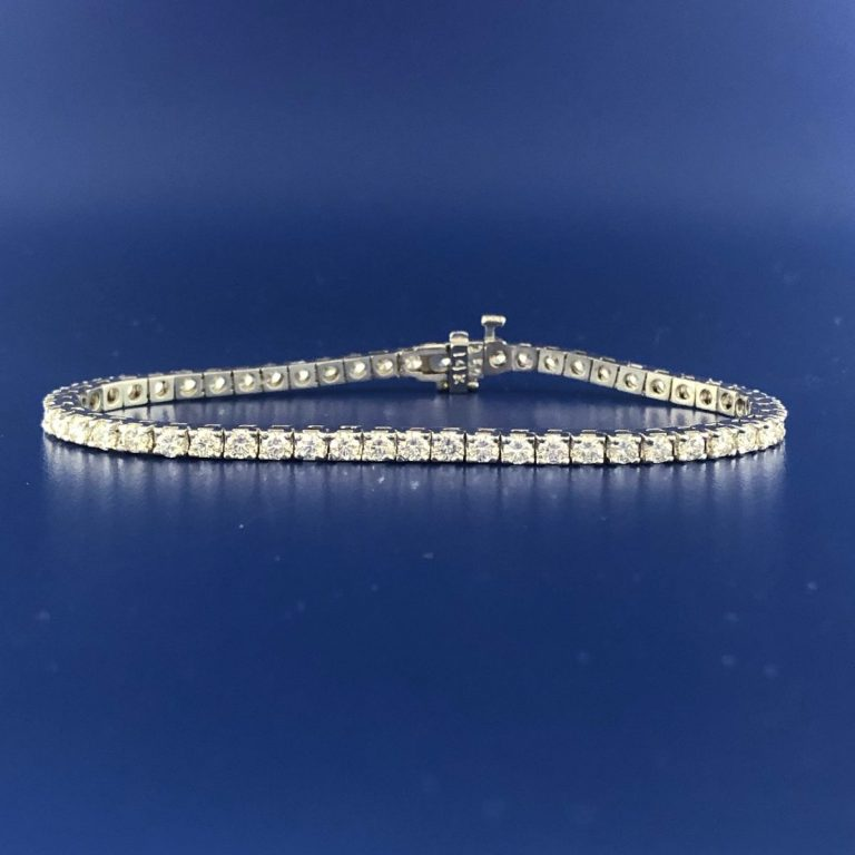 14KY Dia Line Bracelet 3.96 CTTW