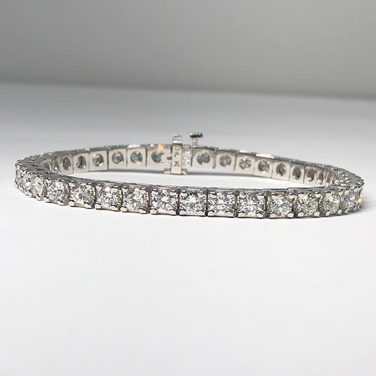 99-95-7489 14KW 7.51ctw Diamond Bracelet