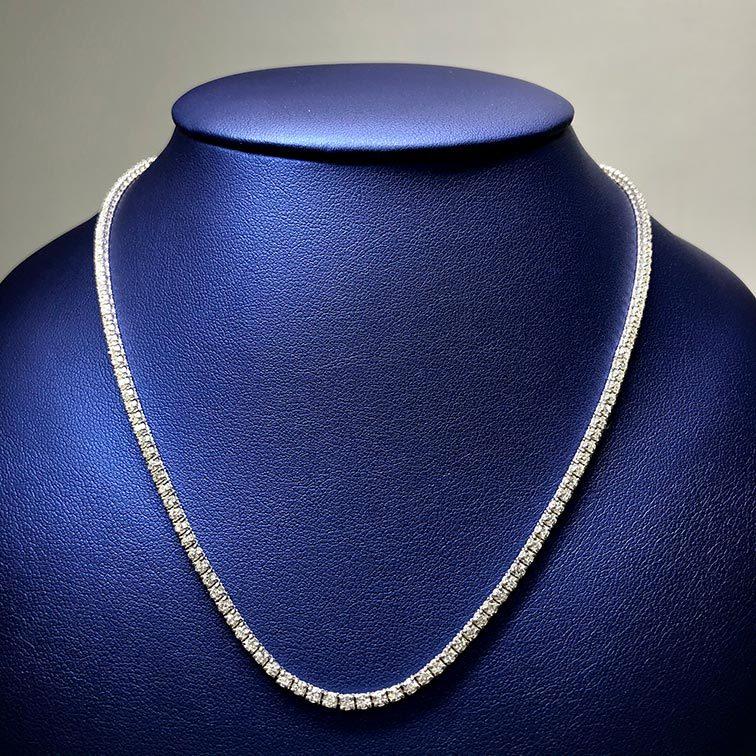 14KW 4.16ctw Diamond Necklace