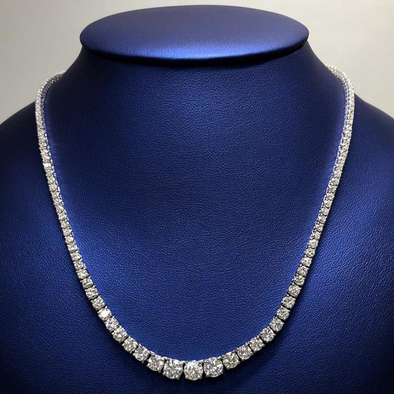 14 KW 10.10ctw Diamond Necklace