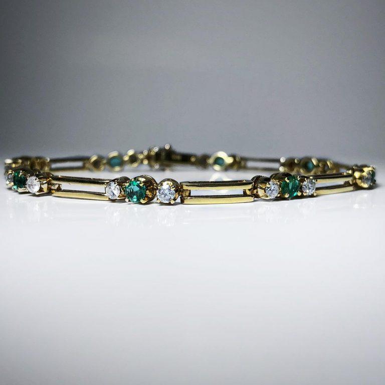 18KY RD/EM Bracelet