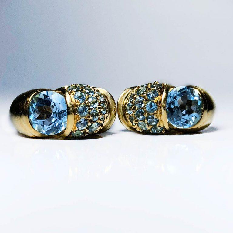 18 KY Cielo Venzia Topaz Earrings