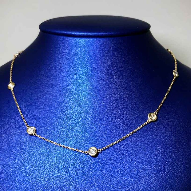 14 KY Gold Diamond By the Inch Necklace