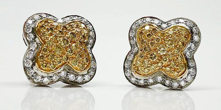 11351-17-1 18KTT Dia Earrings