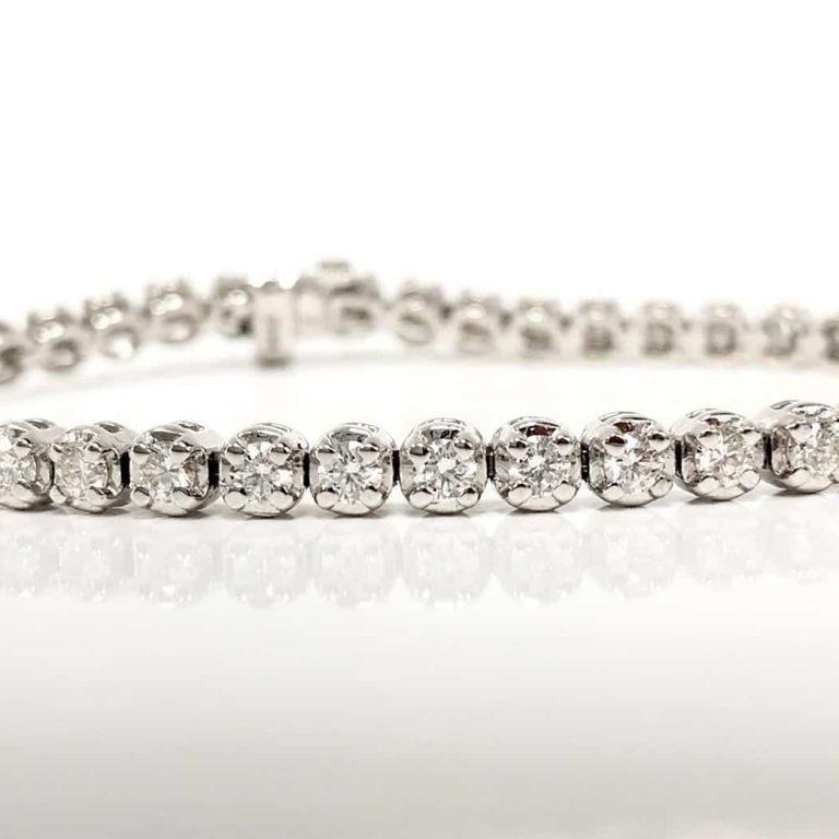 14KW 3.35 CTW Diamond Bracelet