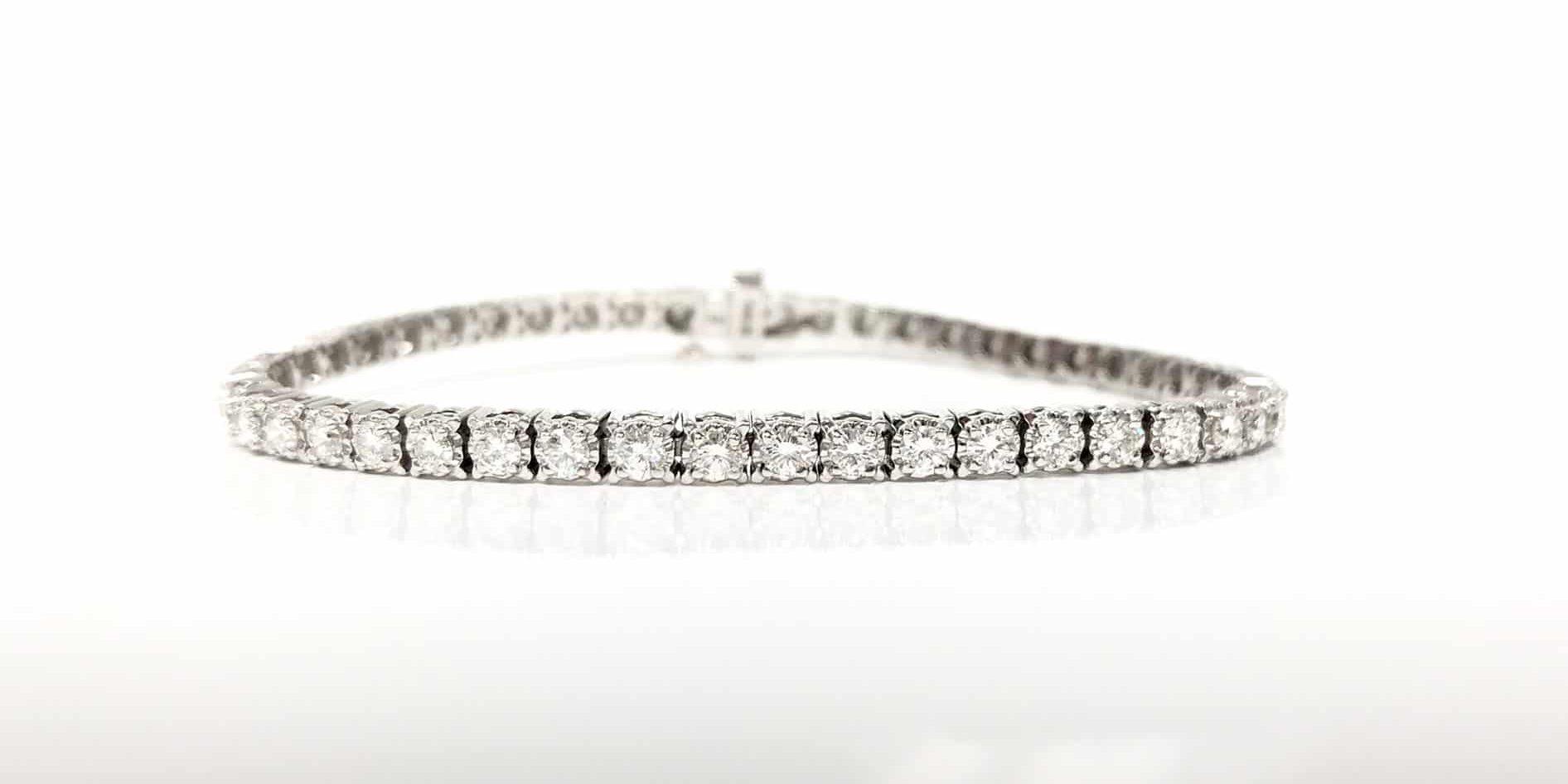 14KW 3.47 CTW Diamond Bracelet