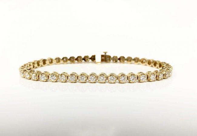 14KY 3.25 CTW Diamond Bracelet