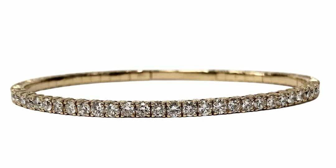 14KY Diamond Bangle
