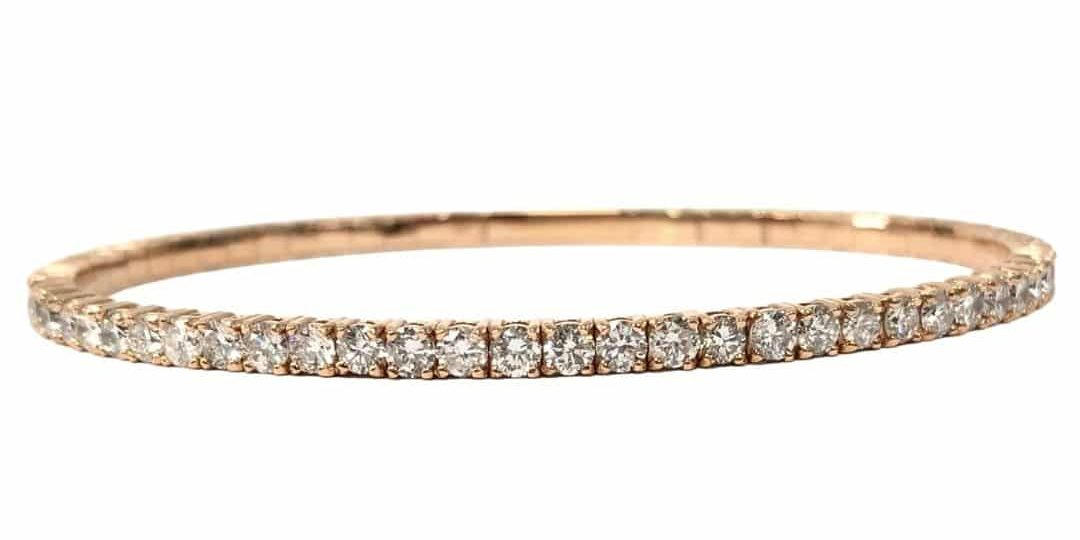 14KR Diamond Bangle Bracelet