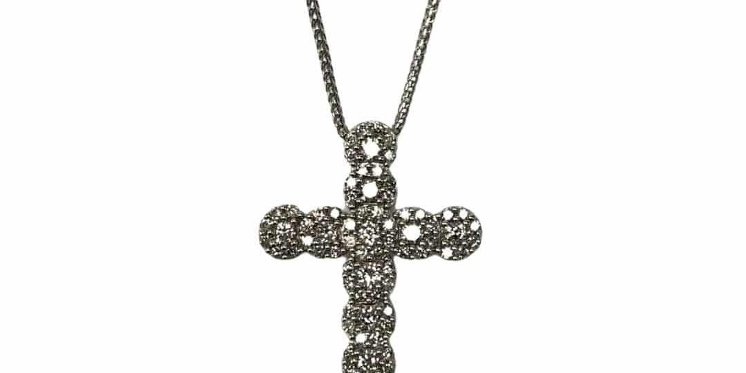 10KW Dia Cross Pendant/Chain