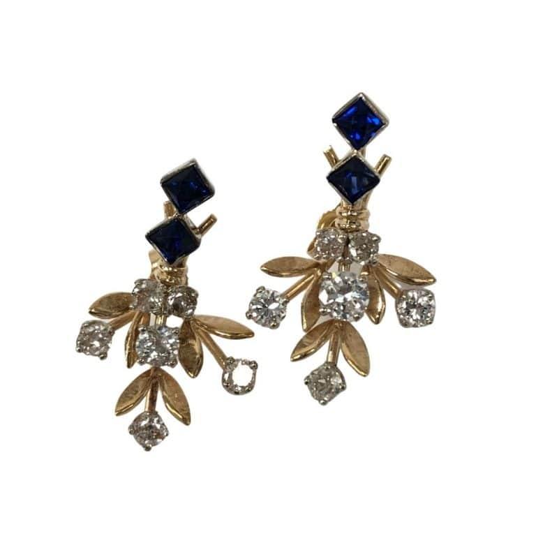 14KY Saph and OE Earrings