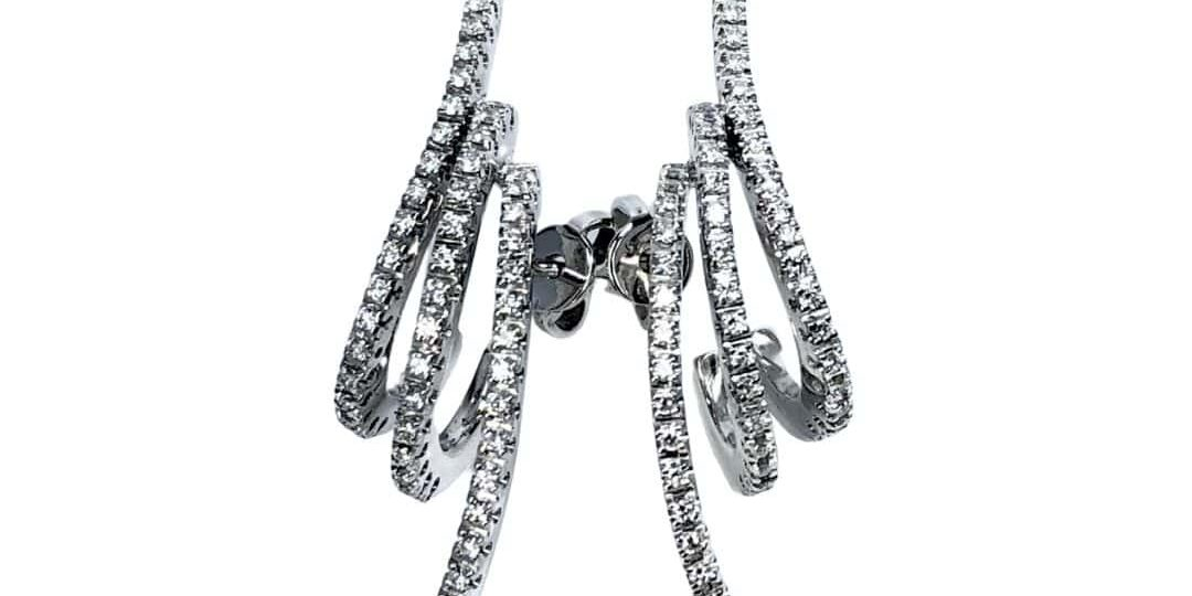 18KW Piero Milano Diamond Earrings